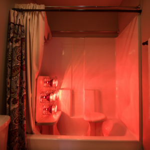 Bathtub Converted Into An Infrared Sauna